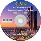 Spain Exports and Imports Trading | Bill of lading data Disk