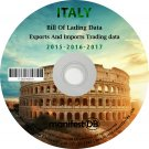 Italy Exports and Imports Trading | Bill of lading data Disk