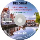 Belgium Exports and Imports Trading | Bill of lading data Disk