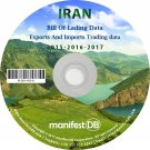 Iran Exports and Imports Trading | Bill of lading data Disk
