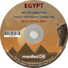 Egypt Exports and Imports Trading | Bill of lading data Disk