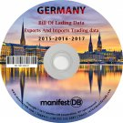 Germany Exports and Imports Trading | Bill of lading data Disk
