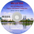 Malaysia Exports and Imports Trading | Bill of lading data Disk