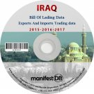 Iraq Exports and Imports Trading   Bill of lading data Disk