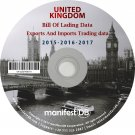 United Kingdom Exports and Imports Trading | Bill of lading data Disk