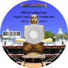 Sri Lanka Exports and Imports Trading   Bill of lading data Disk