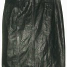 WOMEN'S BLACK LEATHER FITTED WAIST SKIRT SIZE 4