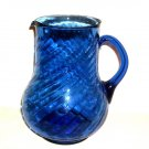 GLASS BLUE DETAIL  JUICE/WATER PITCHER