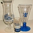 3 ROYAL CARIBBEAN SOUVENIR GLASSES
