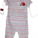 BOYS GRAY PRINTED ONE PIECE SIZE 6 MONTHS