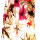 WOMEN'S WHITE PRINTED FITTED WAIST SKIRT SIZE 4P