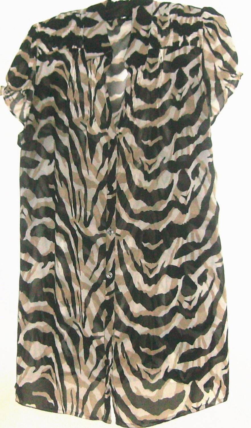 WOMEN'S V NECK PRINTED TOP SIZE XL