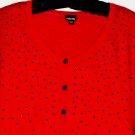 WOMEN'S RED DETAIL CARDIGAN SIZE XL