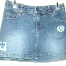 GIRLS BLUE JEAN SKIRT SIZE 8