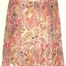 GIRLS IVORY PRINTED TOP SIZE M  (7/8)