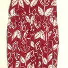 WOMEN'S RED PRINTED SELF BRA TOP SIZE L