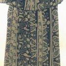 WOMEN'S NAVY BLUE PRINTED MAXI DRESS SIZE 2X