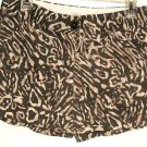 WOMEN'S BROWN PRINTED POCKET SHORTS SIZE 2 ANN TAYLOR LOFT