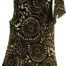 WOMEN'S BROWN PRINTED BOW STRAP TOP SIZE M