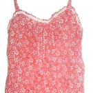 WOMEN'S RED/WHITE PRINTED TANK/CAMI SIZE M