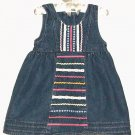 GIRLS BLUE JEAN LACE AND RIBBON DRESS SIZE 12 MOS.