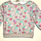 GIRL GRAY PRINTED SWEAT SHIRT SIZE 6 -9 MOS.