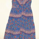 WOMEN'S PURPLE PRINTED V NECK DRESS SIZE S