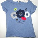 GIRLS BLUE FLOWER PRINT TOP SIZE 24 MOS.