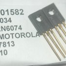 MOTOROLA 2N6074 Transistor 3-Pin Gold Leads New Lot Quantity-2