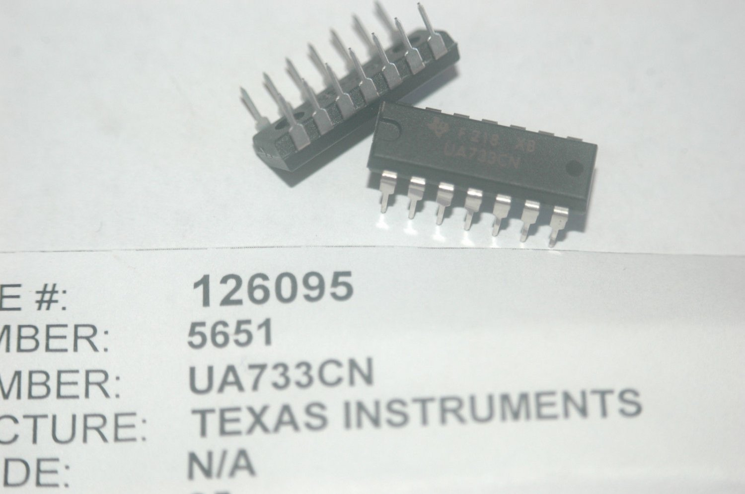 TI UA733CN 14-Pin Plastic Dip Video Amplifier IC New Lot Quantity-10