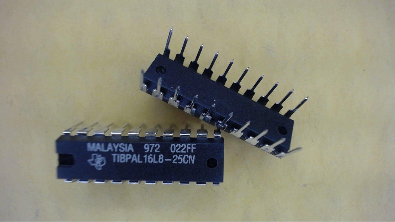 TI TIBPAL16L8-25CN High Performance Impact PAL Circuit 20-Pin Dip Quantity-1