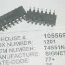 SIGNETICS 74S51N 14-Pin Plastic Dip And-Or-Gate IC New Lot Quantity-25