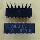 MITSUBISHI 74LS03N Logic Quad 2-input positive-NAND gate 14-Pin Dip New Qty-10