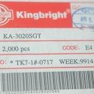 KINGBRIGHT KA3020SGT Single Color Super Pright Green 2-MM Led Qty-100