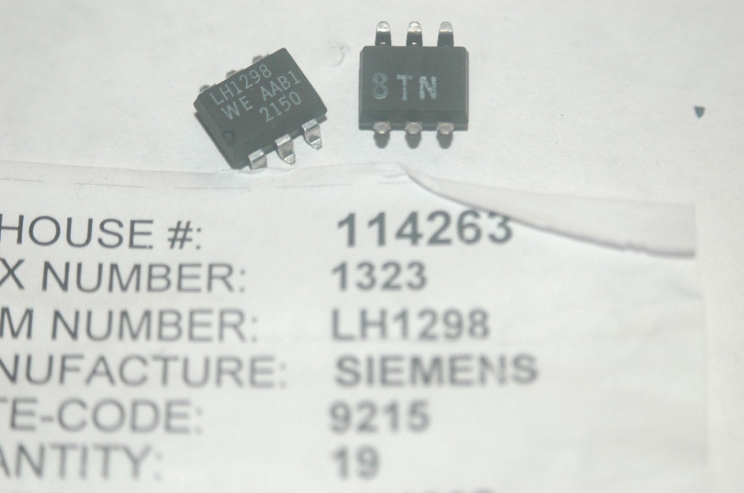 SIEMENS LH1298AAB1 SSR Solid State Relay 6-Pin SMD 1 form A New Lot Qty-2