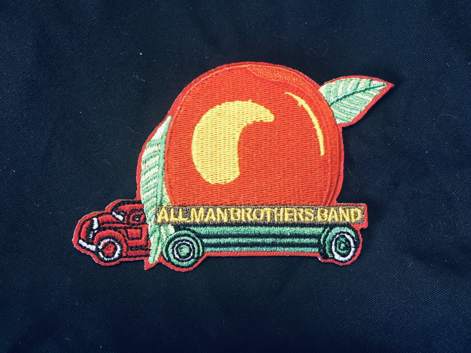 """Allman Brothers Eat A Peach Embroidered Iron on patch 3""""x 2.25"""""""