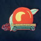 "Allman Brothers Eat A Peach Embroidered Iron on patch 3""x 2.25"""