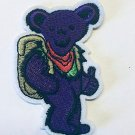 """Grateful Dead Purple Bear Embroidered Iron on patch 3""""x2"""""""