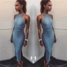 Backless Bandage Slit Sleeveless Bodycon Dress
