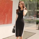 Color Block Knitted Bodycon Dress
