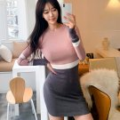 Color Block Bodycon Knitted Dress