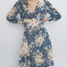 V Neck Floral Long Sleeve Dress Casual