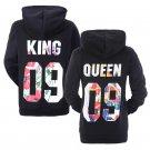 King Queen Hoodies Matching Couple Hoodies His&Her Sweatshirts Pullover Hooded