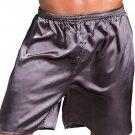 Mens Silk Satin Boxers Shorts Underwear Sleep Pajama Lounge Shorts