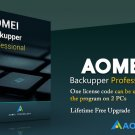 AOMEI Backupper Professional Edition, Lifetime Free Upgrade, 2 PCs, Current Version