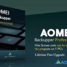AOMEI Backupper Professional Edition, Lifetime Free Upgrade, 5Pc