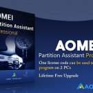 AOMEI Partition Assistant Professional, Lifetime Free Upgrade, 2 PCs, Current Version