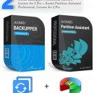 AOMEI Backupper Professional, 2PCs + AOMEI Partition Assistant Professional, 2PCs