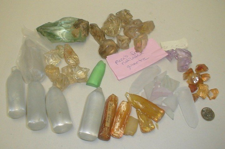 Synthetic raw gemstones for gem cutters