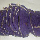 Purple draw string Crown Royal bags